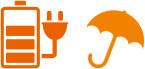 各種携帯電話充電サービス(有料)、傘貸出サービス
